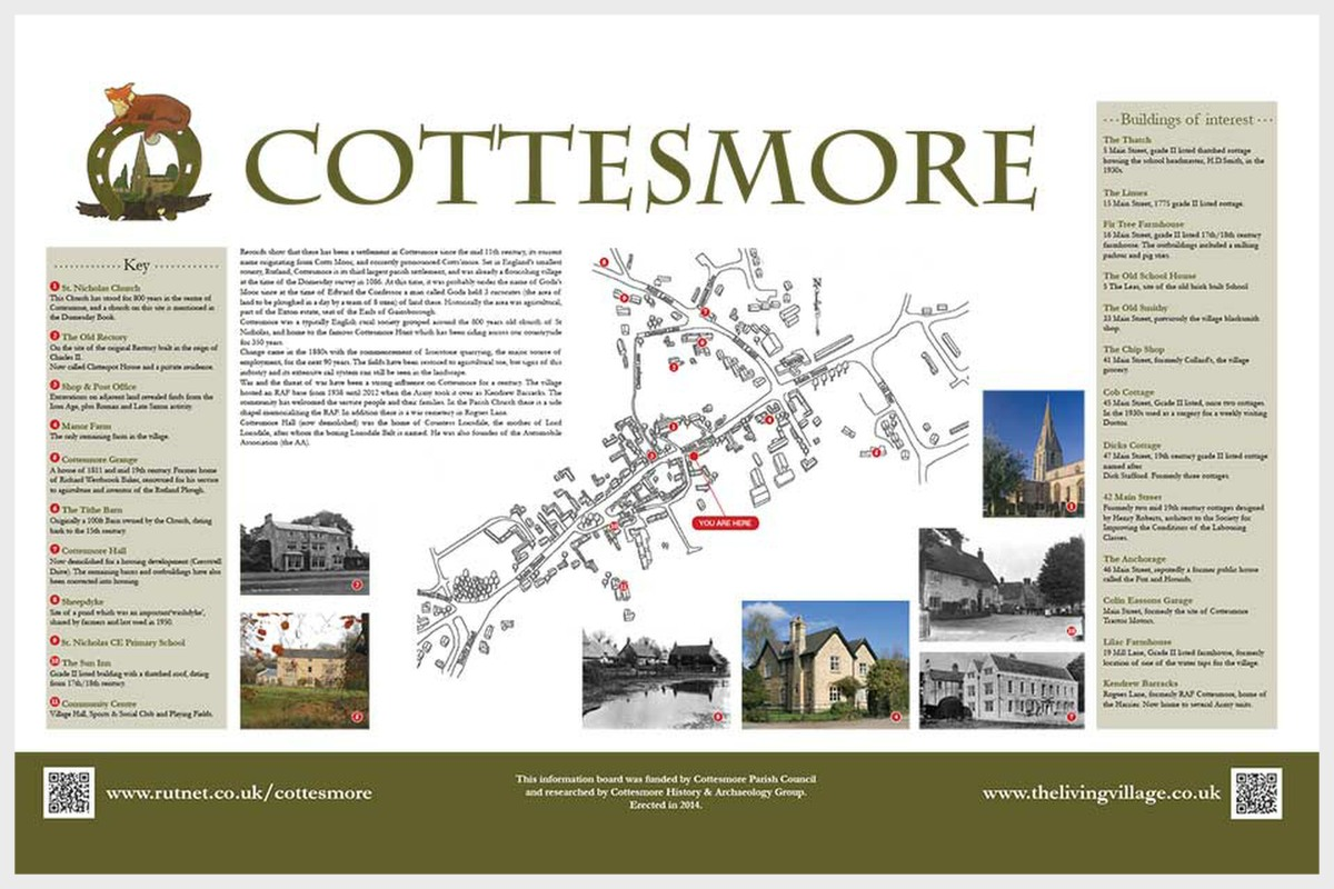 Cottesmore Interpretation Board