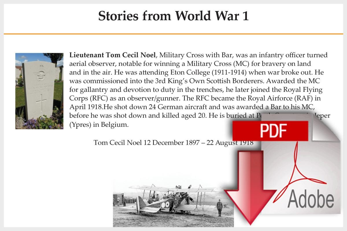 Stories from World War 1
